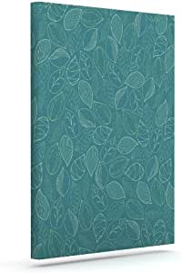 Kess InHouse Emma Frances 秋叶户外帆布墙壁艺术,20.32 x 25.4 厘米