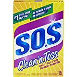 S.O.S Clean n Toss Steel Wool Soap Pads, 15 Count (Pack of 6)