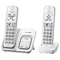 Panasonic 松下电器 DECT 6.0可移动无绳电话,带智能呼叫和答录机,子母机-KX-TGD532W(白色)