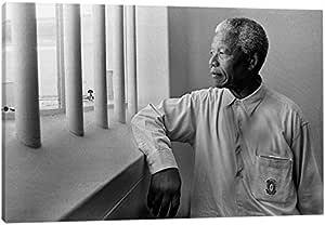 "iCanvasART Nelson Mandela 肖像油画印刷品 26"" x 18"" 3650-1PC3-26x18"