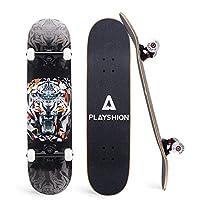 Playshion 31 英寸魔术滑板适合儿童和成人初学者
