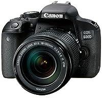 Canon 佳能 EOS 800D单反套机附送 Aisying单反相机包+钢化膜 (800D(18-135) 套餐版含配件)