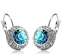 Shining Diva Princess Kate Inspired Platinum Plated Crystal Earrings For Women & Girls