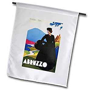 BLN 复古旅行海报–vintage abruzzo 意大利意大利旅行海报–旗帜 12 x 18 inch Garden Flag