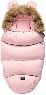 婴儿推车的睡袋   婴儿车汽车座椅的婴儿睡袋   可爱温暖的婴儿襁褓睡袋 粉红色