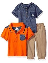 American Hawk 男婴 Polo 衫,Henley 慢跑裤