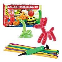 """Global Gizmos 55010""""经典气球动物模型套件,包括泵玩具"""