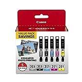 CanonInk CLI-251 BKCMYGY 5 色墨盒 CanonInk CLI-251 BKCMYGY 5 色墨盒 5 Color Pack 黑色/青色/洋红色/黄色/灰色