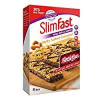 Slimfast 代餐棒 4根装 坚果焦糖味240g(英国品牌)