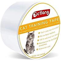Sinrextraonry 1件防刮猫训练胶带 透明猫咪划痕阻隔双面猫训练胶带 适用于家具、长椅、沙发用品