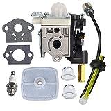 新款 RB-K75 化油器空气过滤器燃油套件火花塞,适用于 ECHO GT200 GT201i HC150 HC151 PE200 PE201 PPF210 PPF211 SRM210 SRM211 修剪器/刷头