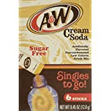 A&W Cream Soda Singles To Go Powder Packets - Sugar Free, Non-Carbonated Cream Soda Flavored Water Drink Mix, 6 Count ( Pack Of 12 )