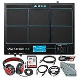 Alesis 样本 Pro 8 片打击乐器和触发乐器,带 Samson 耳机,16GB 卡,各种线缆配件套装