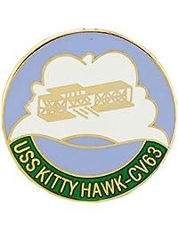 美国* USN USS Kity Hawk CV-63 Script and Logo 2.54 cm 翻领别针
