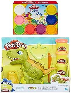 PD Play Doh Rex The Chomper + Play Doh 8 件装彩虹彩泥