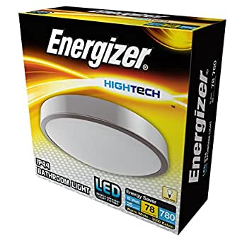 Energizer LED IP44 室内/室外灯,10 W,拉丝镀铬