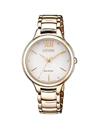 CITIZEN 西铁城 ELEGANCE 光动能女士手表 EM0553-85A(日本品牌 香港直邮)