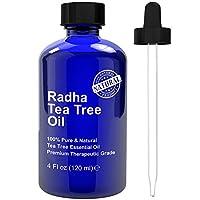 Radha Beauty Tea Tree Essential Oil 4 oz - 100% Pure Therapeutic Grade 茶树油100%纯 美国直邮