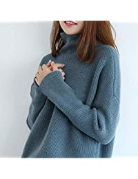 慵懒风羊绒衫女高领韩版套头毛衣宽松百搭显瘦打底时尚针织羊毛衫