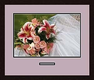Art to Frames 双倍多衬垫-768-805/89-FRBW26061 拼贴框架照片垫双衬垫带 1-12x18 和 1-1x4.5 开口和Espresso 框架