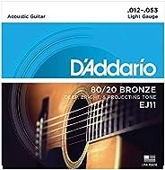 D'Addario D'Addario 原声吉他弦 80/20青铜 EJ 【国内正规商品】E