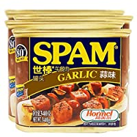 【4罐】世棒spam荷美尔蒜味午餐肉罐头火锅/泡面/手抓饼/食材/可即食 (蒜味)