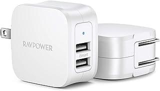 RAVPower 2 件装 USB 充电器RP-PC121 白色