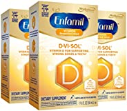 Mead Johnson 美赞臣 Enfamil 铂睿 D-Vi-Sol 维生素D补充滴剂,50毫升(3件装)