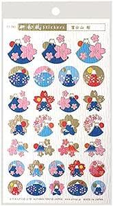 Pinnap 冲切 日式贴纸 10+1张 ST745 富士山 桜 金箔押し