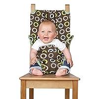 英国Totseat便携式婴儿餐椅安全套可折叠宝宝座椅套适合多种椅子-巧克力 TOTSD76