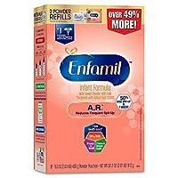 美赞臣Enfamil A.R. 婴儿配方奶粉 纸盒替换装32.2盎司(913g)/盒