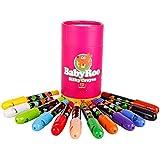 西班牙 Joan Miro 美乐 儿童可水洗蜡笔 贝贝鼠丝滑旋转蜡笔 12色 JM08091