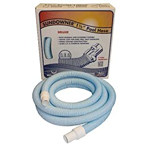 Haviland NA200 1-1/2-Inch Vacuum Hose for In-Ground Swimming Pools 蓝/白 50-Feet