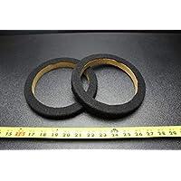2 MDF 扬声器环圈 16.51 厘米地毯木制 3/4 厚玻璃纤维戒指-065CBK