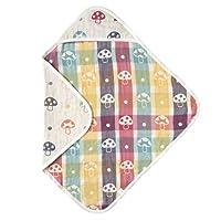 Hoppetta 小蘑菇 宝宝6层透气纱布 软毛毯 85x85cm 7243