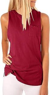 MISSLOOK 女式高领背心长袖衬衫纯色宽松 T 恤带口袋