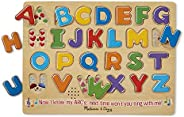 Melissa & Doug 字母表有声拼图,木制带声效拼图