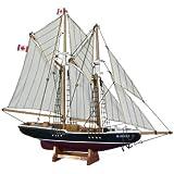 "Handcrafted Nautical Decor Bluenose Sailboat, 17"""