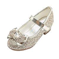 STELLE 女孩玛丽珍闪光鞋低跟公主花朵婚礼礼服浅口鞋儿童幼儿