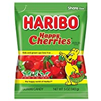 Haribo Gummi Candy, Happy Cherries, 5 oz. Bag (Pack of 12)