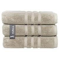 Chortex 奢华土耳其棉毛巾(6 件装) 亚麻布色 Bath Towel - Pack of 3 Irvington