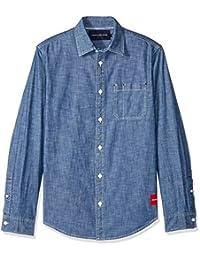 Calvin Klein 男士長袖基本牛仔襯衫