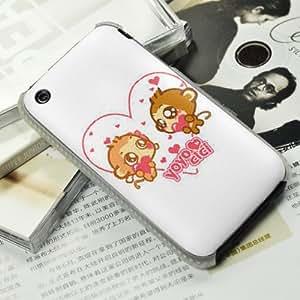 手机工坊 iPhone 3 彩绘 手机壳 手机保护壳 热恋猴仔