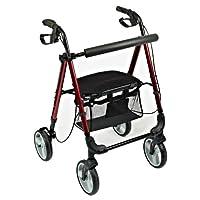 NRS Healthcare M87719 轻质四轮滚轮带座椅滚轮 - 可折叠可调节(适合英国减免增值税)