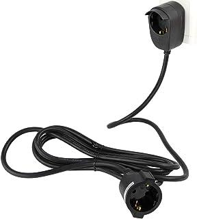 REV Ritter Powersplit 保护触点延长带附加插座头,3 米 黑色 1 Stück 0016130514