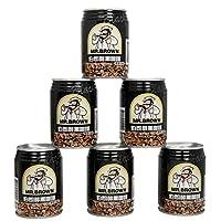 伯朗咖啡 醇黑咖啡饮料 纯咖啡即饮品240ml*6罐装