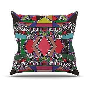 Kess InHouse Vasare Nar 非洲主题室内/室外抱枕 18 x 18 英寸(长x宽) VN1007AOP03