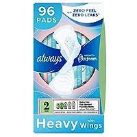 P&G 宝洁 Whisper 护舒宝 Always Infinity 女性液体卫生巾,尺寸2,96片,大流量吸收性,带护翼,无味(32包,每包3到96片)