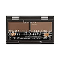 Rimmel Brow This Way Sculpting Kit, Medium Brown, 0.04 Ounce