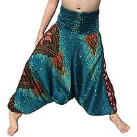 RaanPahMuang 束腰 人造丝 Aladdin 哈伦宽松裤 混合艺术品